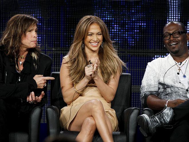SITTING 'IDOL' photo | Jennifer Lopez, Randy Jackson, Steven Tyler