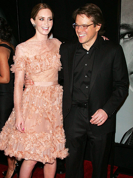 JUST PEACHY photo | Emily Blunt, Matt Damon