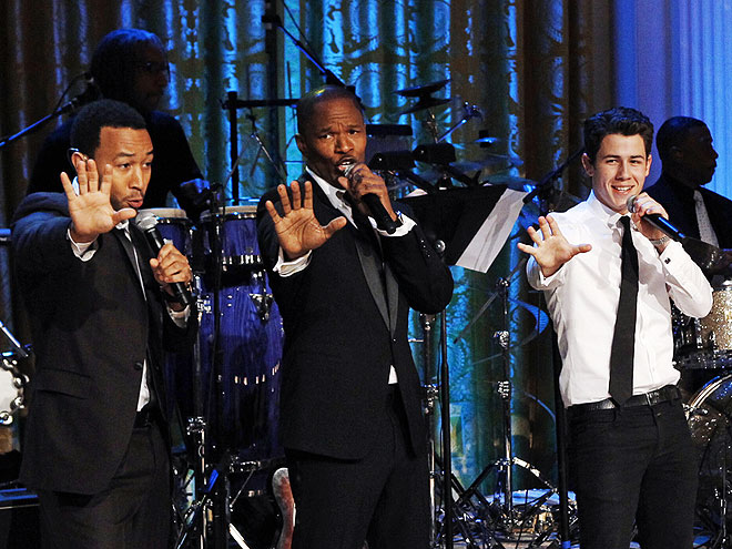 A CHORUS LINE photo | Jamie Foxx, John Legend, Nick Jonas