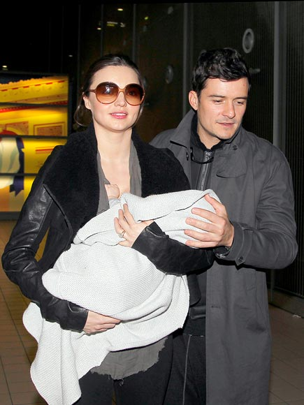 BABE IN ARMS photo | Miranda Kerr, Orlando Bloom