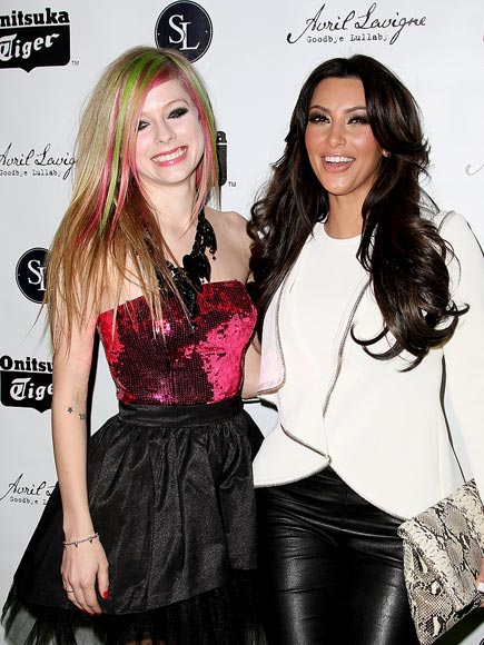 ROCK ON photo | Avril Lavigne, Kim Kardashian
