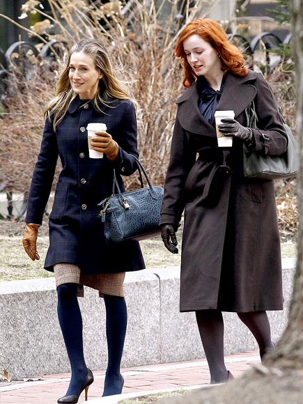 COFFEE MATES photo | Christina Hendricks, Sarah Jessica Parker