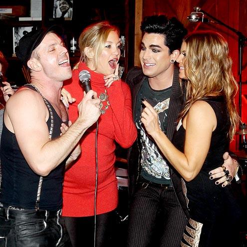LET'S DUET!  photo | Adam Lambert, Fergie, Jake Shears, Kate Hudson