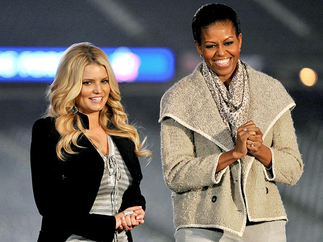 CHEER LEADERS photo | Jessica Simpson, Michelle Obama