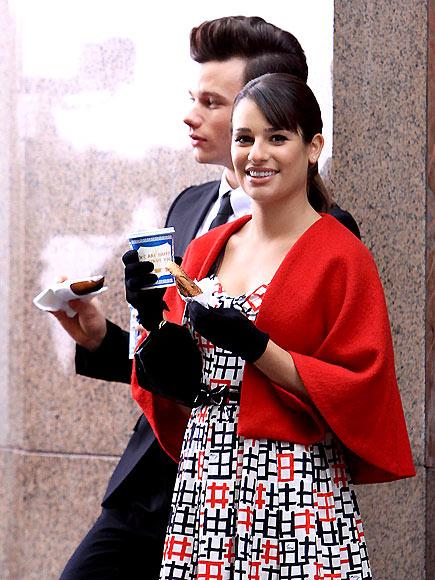 SET DRESSING photo   Chris Colfer, Lea Michele
