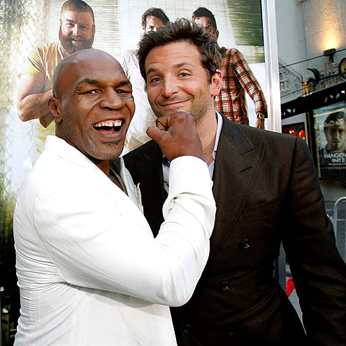 Photo of Mike Tyson & his friend  Bradley Cooper