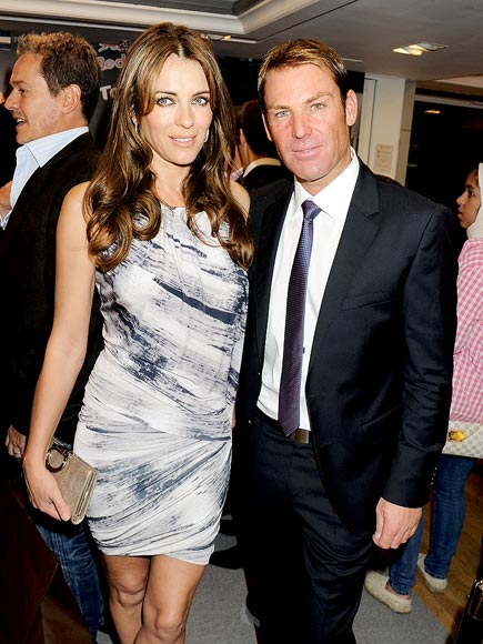 MATCH SET photo | Elizabeth Hurley, Shane Warne