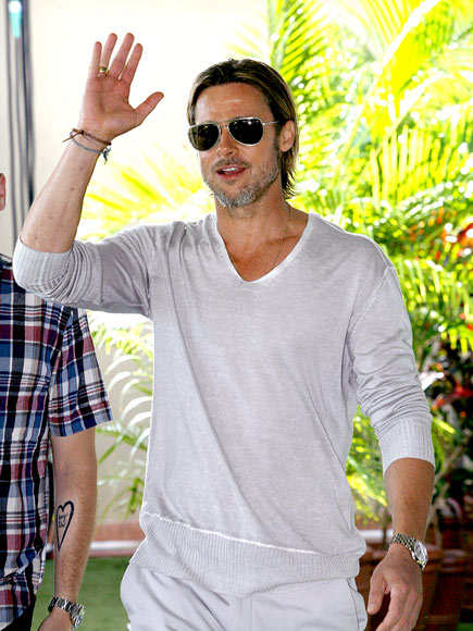 PALM GREETER photo | Brad Pitt