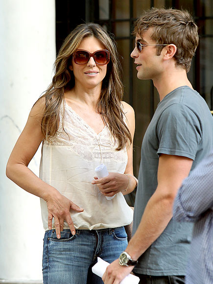 CASUAL CORNER photo | Chace Crawford, Elizabeth Hurley