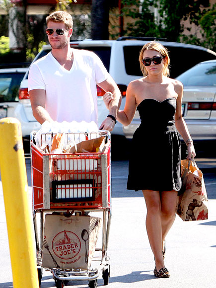 GO CART photo | Liam Hemsworth, Miley Cyrus
