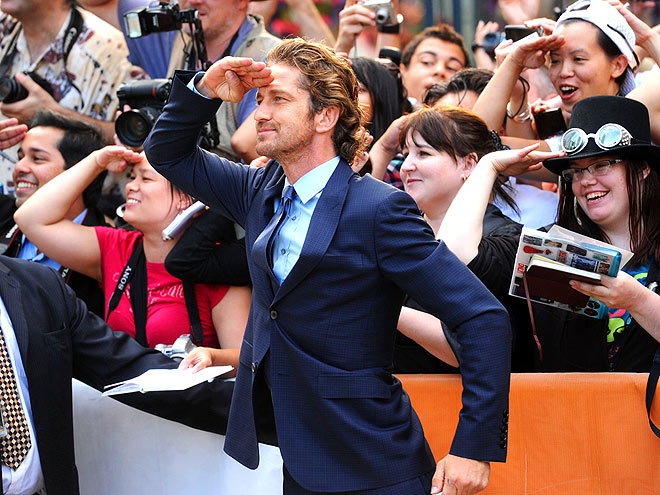 SUIT SALUTE photo | Gerard Butler