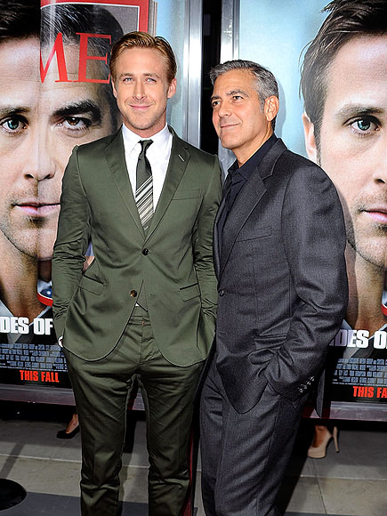 HOTNESS OVERLOAD photo | George Clooney, Ryan Gosling