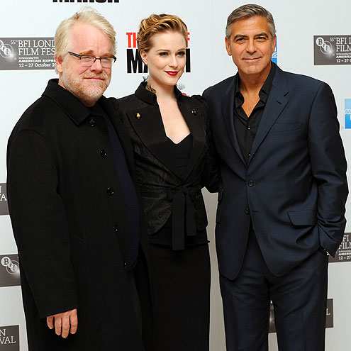 TRIPLE THREAT photo | Evan Rachel Wood, George Clooney, Philip Seymour Hoffman
