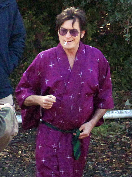CHARLIE TIES ONE ON