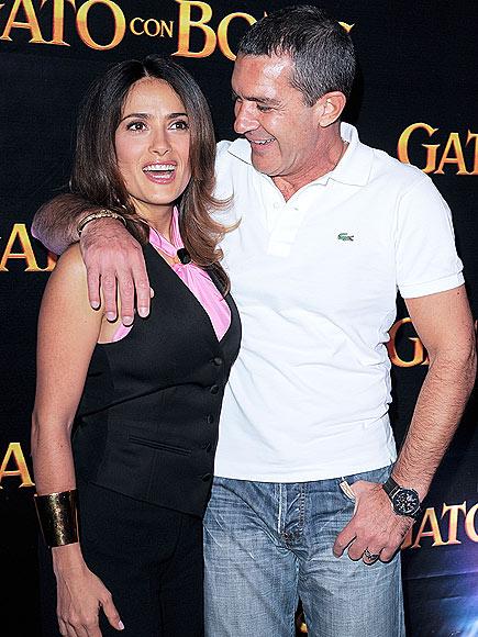 LAUGHING MATTER  photo | Antonio Banderas, Salma Hayek