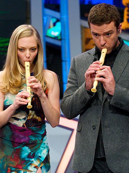 RECORDER SESSION photo | Amanda Seyfried, Justin Timberlake