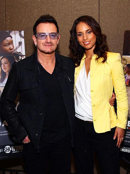 IT'S SHOWTIME  photo | Alicia Keys, Bono