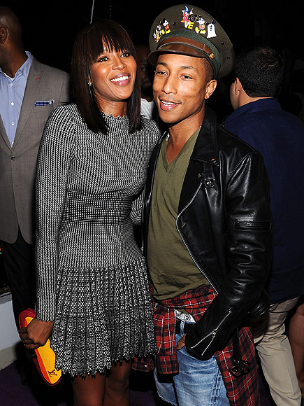 DRESSING WITH FLAIR photo | Naomi Campbell, Pharrell Williams