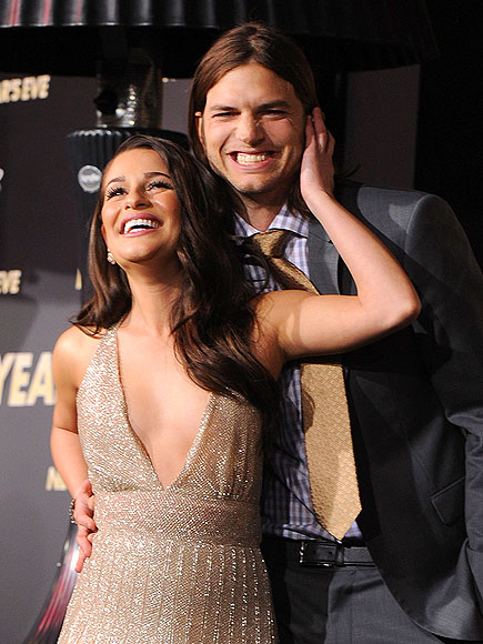 A LAUGHING MATTER   photo | Ashton Kutcher, Lea Michele