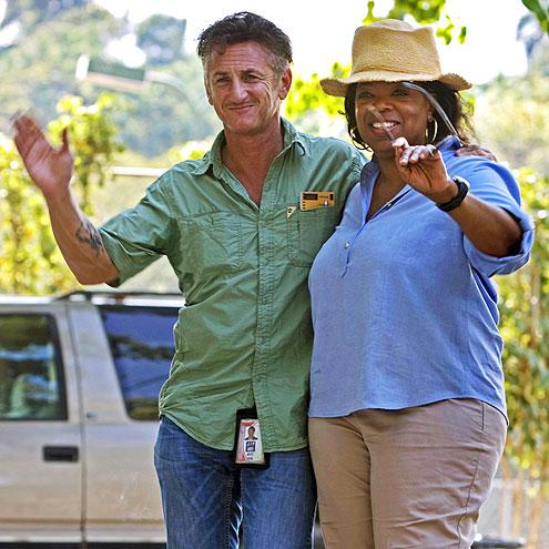 HELPING HANDS  photo | Oprah Winfrey, Sean Penn