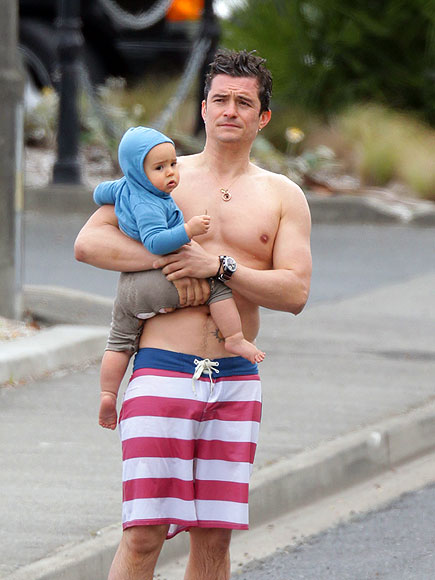 A Dip with Dad photo | Orlando Bloom