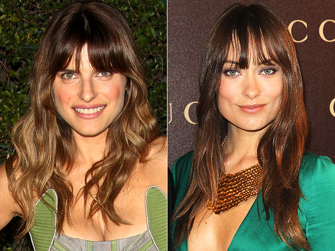 LASH-SWEEPING BANGS photo | Lake Bell, Olivia Wilde
