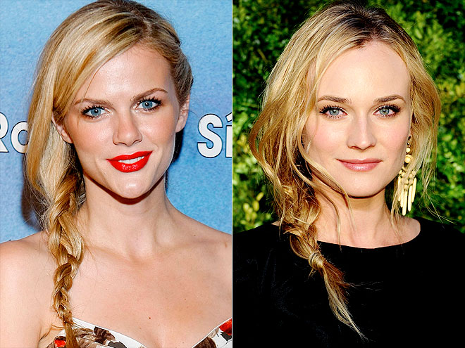 PLAITED SIDE PONY photo | Brooklyn Decker, Diane Kruger