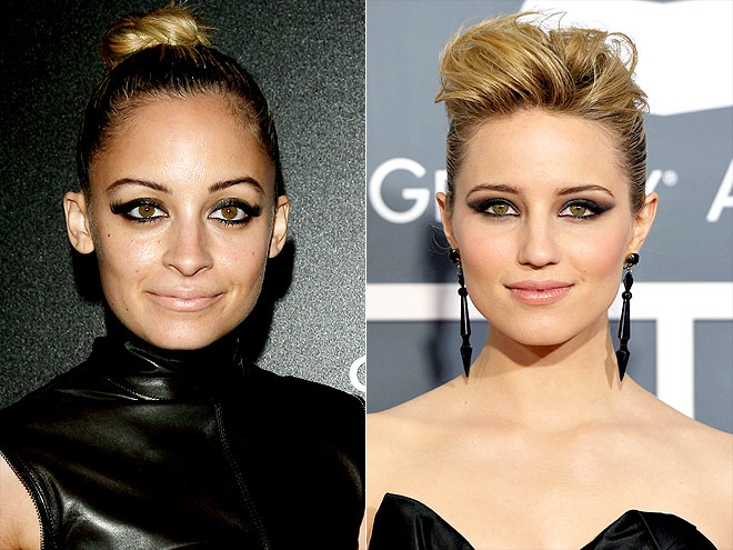SMOKY CAT EYES photo | Dianna Agron, Nicole Richie