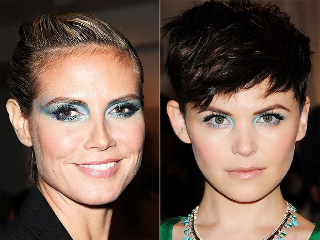 BLUE SHIMMER SHADOW photo | Ginnifer Goodwin, Heidi Klum