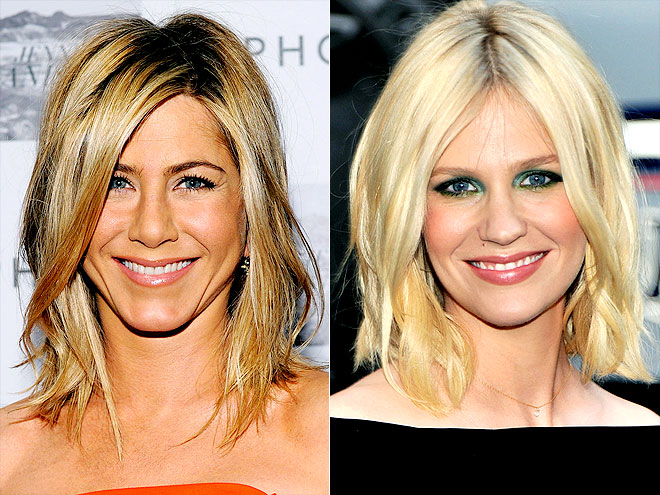 BED-HEAD BOB photo | January Jones, Jennifer Aniston