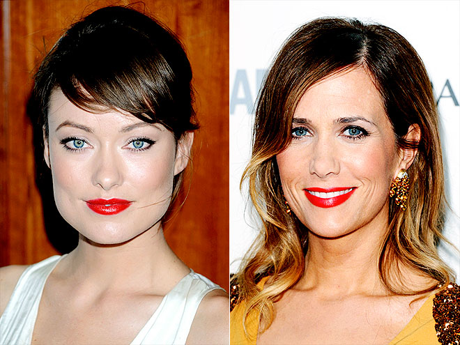 CRIMSON LIPS photo | Kristen Wiig, Olivia Wilde