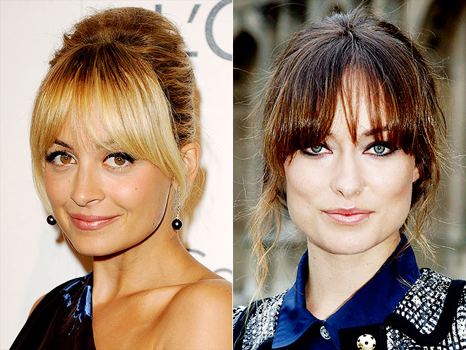 HEAVY-BANGED UPDO photo | Nicole Richie, Olivia Wilde