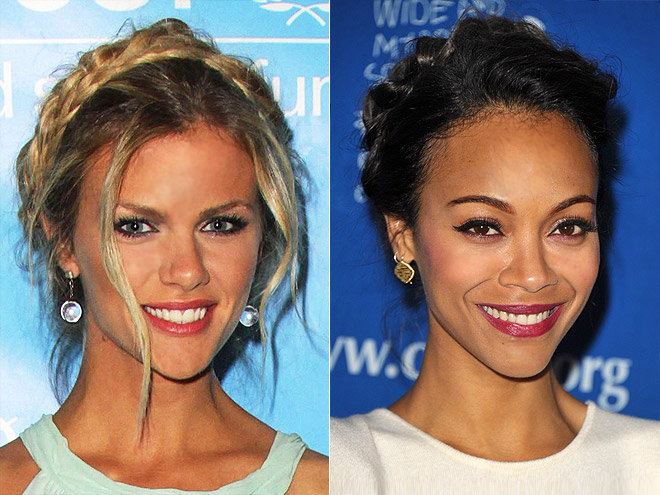 MILKMAID BRAIDS photo | Brooklyn Decker, Zoe Saldana