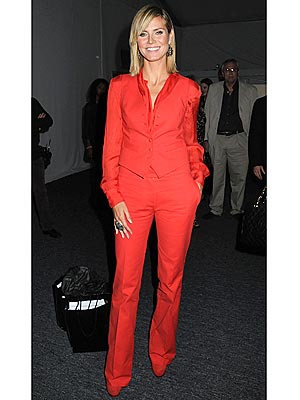 Would You Wear Head-to-Toe Red Like Heidi Klum?