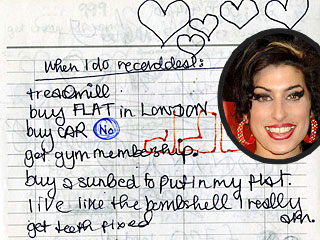 Amy Winehouse's Teenage Diaries Found in London Trash Bin