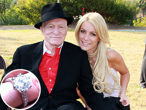 Hugh Hefner Fiance Crystal Harris Engagement Ring