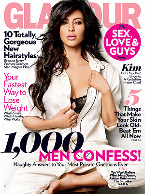 Kim Kardashian Covers the Guy Issue for 'Glamour'