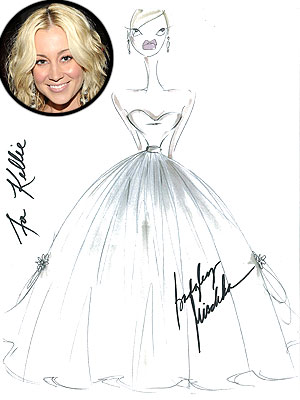 Kellie Pickler's Badgley Mischka Wedding Dress Sketch