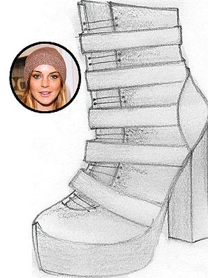 Lindsay Lohan's New 6126 Shoes