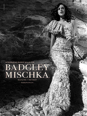 Rumer Willis' Newest Role: Badgley Mischka Model