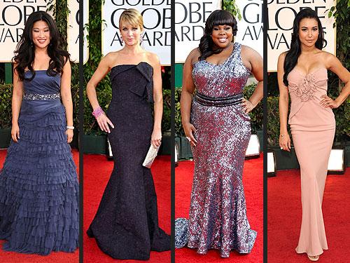 Glee Golden Globes Fashion
