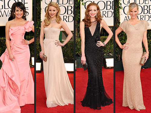 Glee Golden Globes Fashion