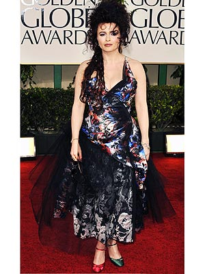 Helena Bonham Carter on Her Golden Globes Dress and Shoes