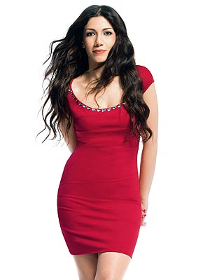 Project Runway Designer Irina Shabayeva's red dress