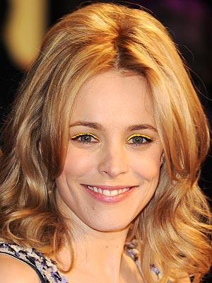Rachel McAdams Neon Eyeshadow