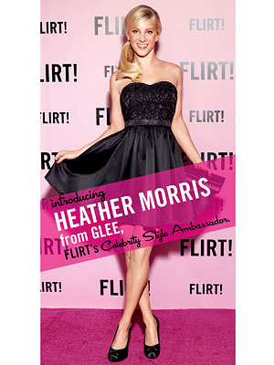 Heather Morris is Flirt! Cosmetics Style Ambassador
