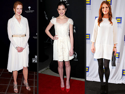 Nicole Kidman, Hailee Steinfeld and Julianne Moore Wear Winter White