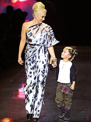 Gwen Stefani walks LAMB runway with Son Kingston Rossdale