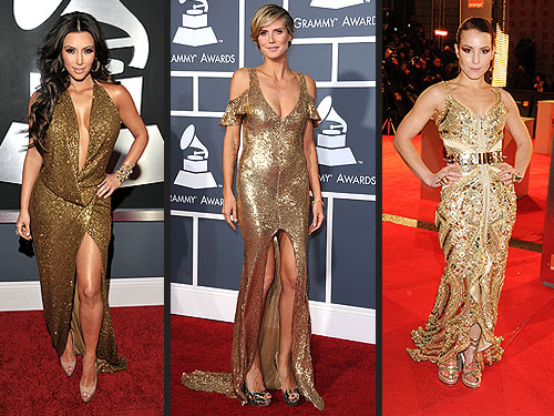 Kim Kardashian, Heidi Klum and Noomi Rapace Choose Gold Gowns