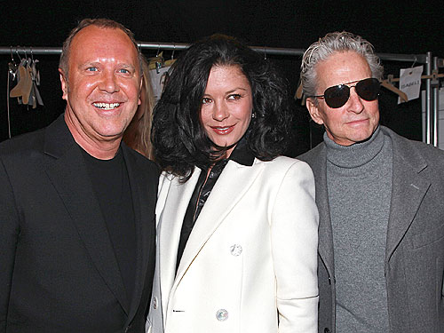 Michael Douglas and Catherine Zeta-Jones Support Michael Kors During Fashion Week
